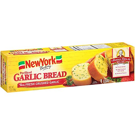 Mamma Bella Garlic Bread Pre-Sliced Loaves Cholesterol Free - 7 Oz