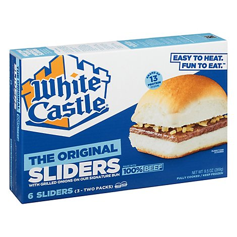 White Castle Microwaveable Hamburgers - 6 Count