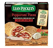 Lean Pockets Sandwiches Seasoned Crust Garlic Buttery Reduced Fat Pepperoni Pizza 2 Count - 9 Oz