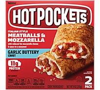 Hot Pockets Sandwiches Seasoned Crust Garlic Buttery Meatballs & Mozzarella 2 Count - 9 Oz