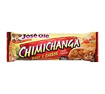 Jose Ole Frozen Mexican Food Chimichanga Steak & Cheese - 5 Oz