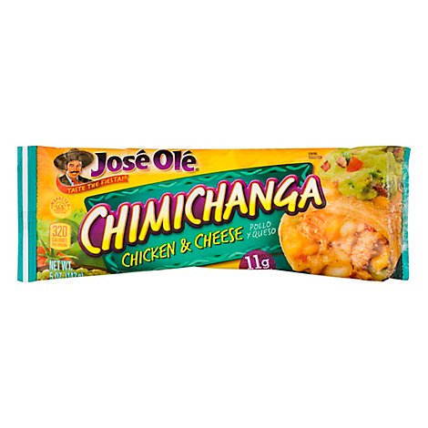Jose Ole Frozen Mexican Food Chimichanga Chicken & Cheese - 5 Oz