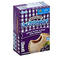 Smuckers Uncrustables Sandwich Peanut Butter & Grape Jelly 4 Count - 8 Oz