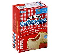 Smuckers Uncrustables Sandwich Peanut Butter and Strawberry Jam 4 Count - 8 Oz