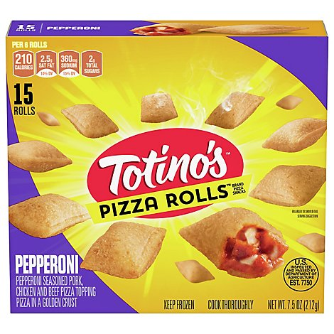 Totinos Pizza Rolls Pepperoni 15 Count - 7.5 Oz