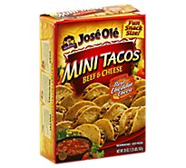 Jose Ole Frozen Mexican Food Mini Tacos Beef & Cheese - 20 Oz