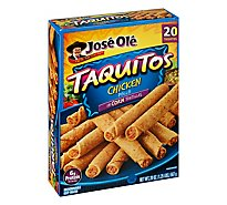 Jose Ole Frozen Mexican Food Taquitos Chicken 20 Count - 20 Oz