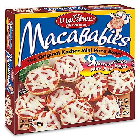 Macabee Mini Pizza Bagels - 7 Oz