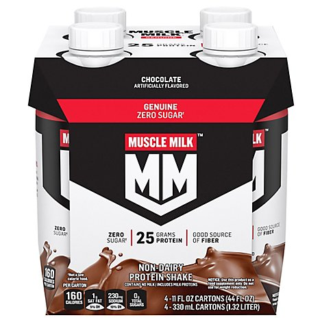 MUSCLE MILK Protein Shake Non Dairy Chocolate - 4-11 Fl. Oz.