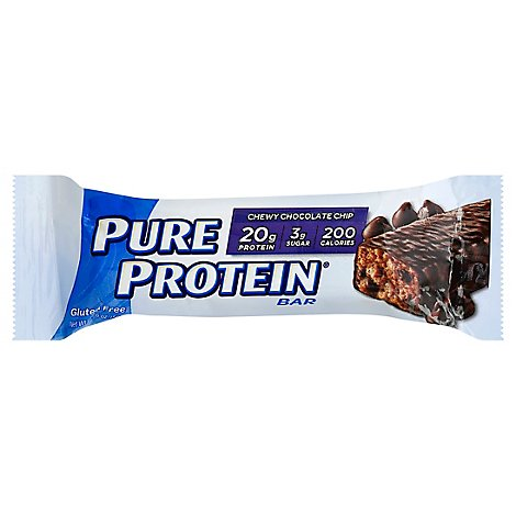 Pure Protein Bar Gluten Free Chewy Chocolate Chip - 1.76 Oz