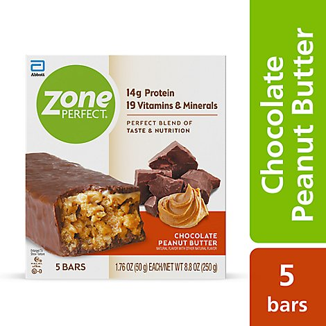 ZonePerfect Protein Bars Chocolate Peanut Butter - 5-1.76 Oz