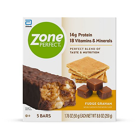 ZonePerfect Protein Bars Fudge Graham - 5-1.76 Oz