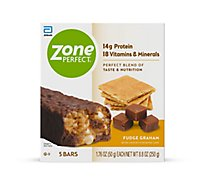 ZonePerfect Bars Fudge Graham - 5-1.76 Oz