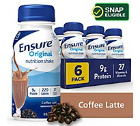 Ensure Original Nutrition Shake Ready To Drink Coffee Latte - 6-8 Fl. Oz.