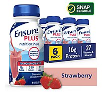 Ensure Plus Nutrition Shake Ready To Drink Strawberry - 6-8 Fl. Oz.