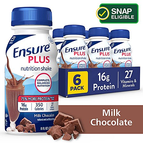 Ensure Plus Nutrition Shake Milk Chocolate - 6-8 Fl. Oz.