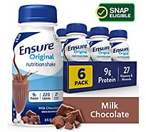 Ensure Original Nutrition Shake Ready To Drink Milk Chocolate - 6-8 Fl. Oz.