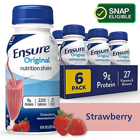 Ensure Nutrition Shake Original Strawberry - 6-8 Fl. Oz.