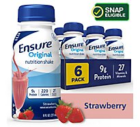 Ensure Original Nutrition Shake Ready To Drink Strawberry - 6-8 Fl. Oz.