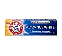 ARM & HAMMER Advance White Toothpaste Fluoride Anticavity Frosted Mint Flavor - 4.3 Oz