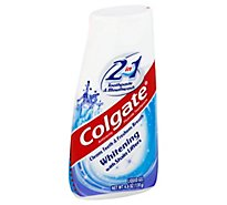 Colgate Toothpaste Fluoride 2 in 1 Toothpaste & Mouthwash Liquid Gel - 4.6 Oz