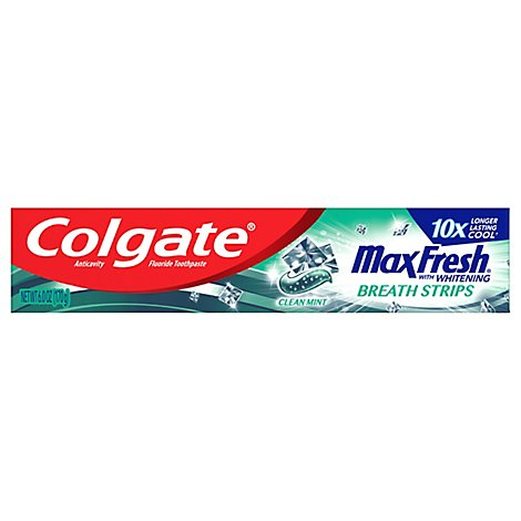 Colgate MaxFresh Toothpaste Anticavity Fluoride Clean Mint - 6 Oz