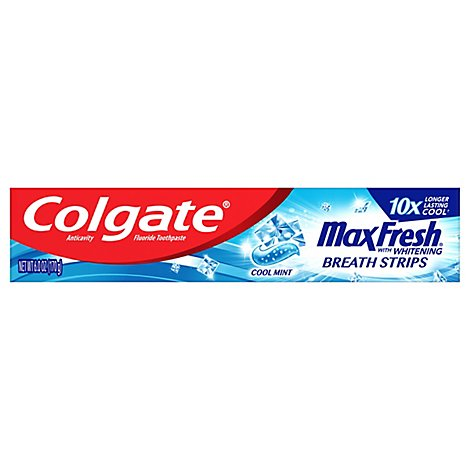 Colgate MaxFresh Toothpaste Anticavity Fluoride Cool Mint - 6 Oz