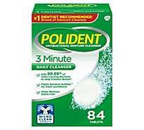 Polident Denture Cleanser Tablets 3 Minute Triplemint Freshness - 84 Count