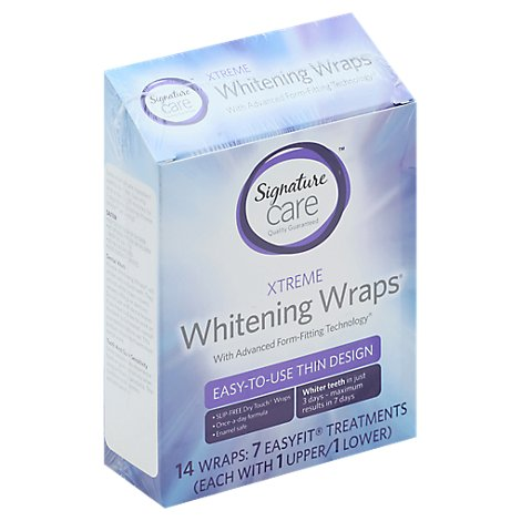 Signature Care Whitening Wraps Xtreme Advanced Form Fitting Technology - 14 Count