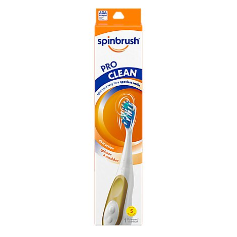 ARM & HAMMER Spinbrush Toothbrush Pro Clean Powered Soft - Each