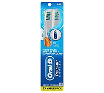Oral-B Pulsar Toothbrush Expert Clean Battery Powered Soft - 2 Count