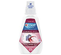 Crest 3D White Luxe Mouthwash Whitening Multi-Care Glamorous White Fresh Mint - 16 Fl. Oz.