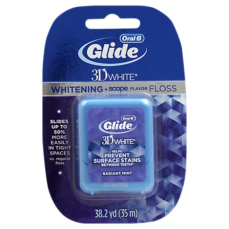 Oral-B Glide 3D White Floss Whitening + Scope Flavor - Each
