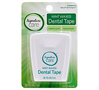 Signature Care Dental Tape Mint Waxed 50 Yards - Each