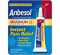 Anbesol Oral Anesthetic Maximum Strength 20% Gel - 0.33 Oz