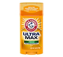 Arm & Hammer Ultra Max Antiperspirant Deodorant Solid Fresh - 2.8 Oz