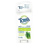 Toms Of Maine Deodorant Long Lasting Refreshing Lemongrass - 2.25 Oz