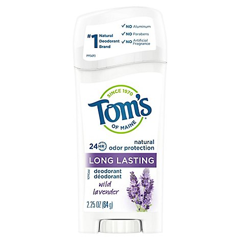 Toms of Maine Deodorant Long Lasting Wild Lavender - 2.25 Oz