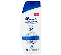 Head & Shoulders Shampoo + Conditioner Dandruff 2 in 1 Classic Clean - 23.7 Fl. Oz.