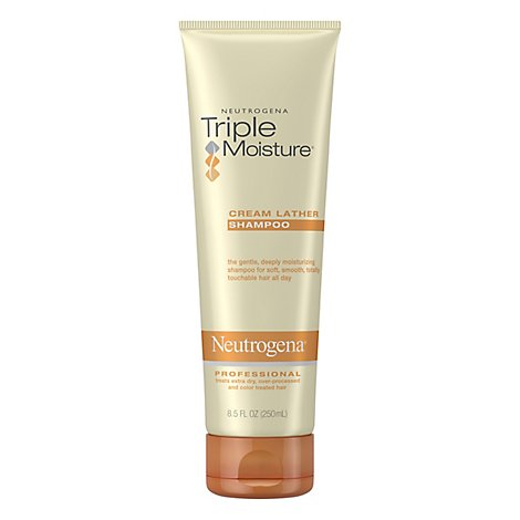 Neutrogena Triple Moisture Shampoo Cream Lather - 8.5 Fl. Oz.