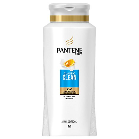 Pantene Pro-V Shampoo & Conditioner 2 in 1 Classic All Hair Types - 25.4 Fl. Oz.
