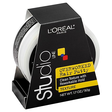 LOreal Studio Line Overworked Styling Paste Hair Putty - 1.7 Oz