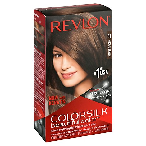 Revlon Colorsilk 41 Medium Brown Hair Color - Each
