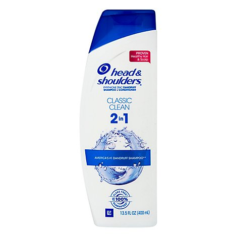 Head & Shoulders Dandruff Shampoo Plus Conditioner 2 in 1 Classic Clean - 13.5 Fl. Oz.