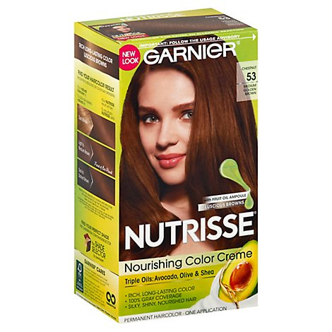 Garnier Nutrisse Permanent Haircolor Medium Golden Brown 53 - Each