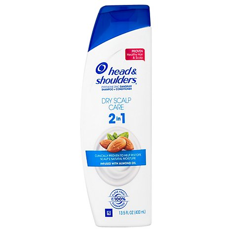 Head & Shoulders Shampoo + Conditioner 2In1 Dry Scalp Care With Almond Oil - 13.5 Fl. Oz.