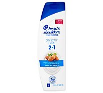 Head & Shoulders Shampoo + Conditioner Dandruff 2 in 1 Dry Scalp Care - 14.2 Fl. Oz.