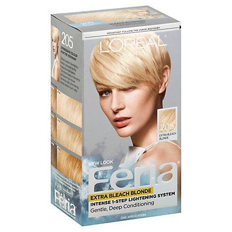 LOreal Feria Hair Color Extra Bleach Blonde 205 - Each