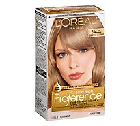 LOreal Superior Preference Hair Color Ash Blonde 8A - Each