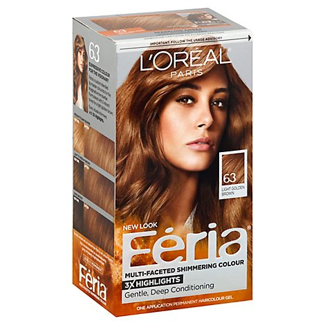 LOreal Hair Color Feria Sparkling Amber 63 - Each